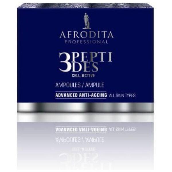 Afrodita professional - 3 PEPTIDES - ampule za obraz - 3 peptides ampule